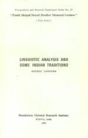 Linguistic Analysis and Some Indian Traditions