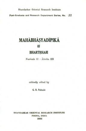 Mahabhasyadipika of Bhartrhari Ahnika III