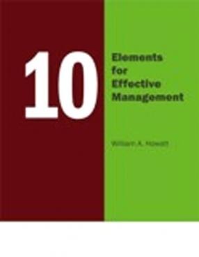 10 Elements for Effective Management