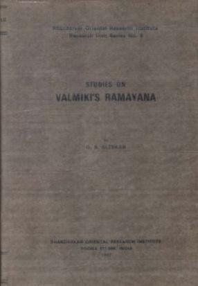 Studies on Valmiki's Ramayana
