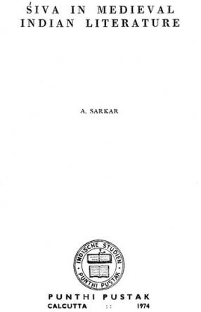 Siva in Medieval Indian Literature