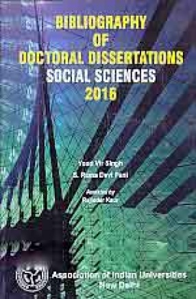 Bibliography of Doctoral Dissertations Social Sciences 2016