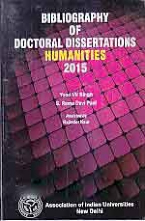 Bibliography of Doctoral Dissertations Humanities 2015
