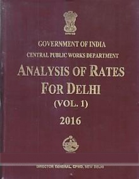 Analysis of Rates for Delhi, 2016 (In 2 Volumes)