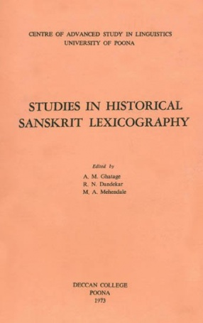 Studies in Historical Sanskrit Lexicography (An Old and Rare Book)