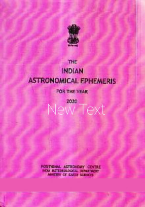 The Indian Astronomical Ephemeris for The Year 2020
