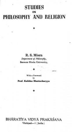 Studies in Philosophy and Religion
