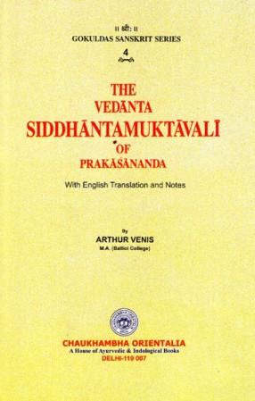 The Vedanta Siddhanta Muktavali of Prakasananda