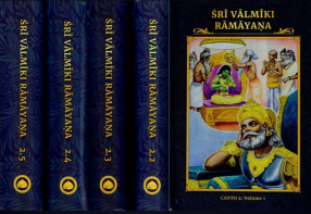 Sri Valmiki Ramayana- Ayodhya Kanda, Notes Based on Four Ancient Commentaries (In 5 Volumes)